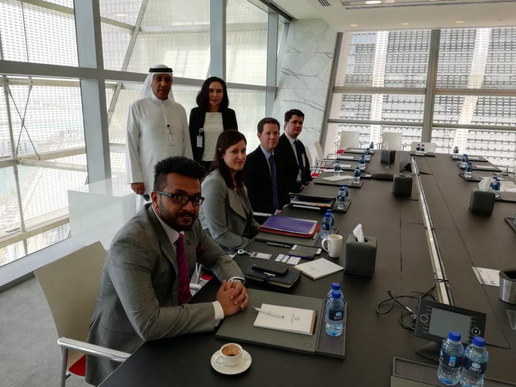 アブダビ石油子会社とのミーティング